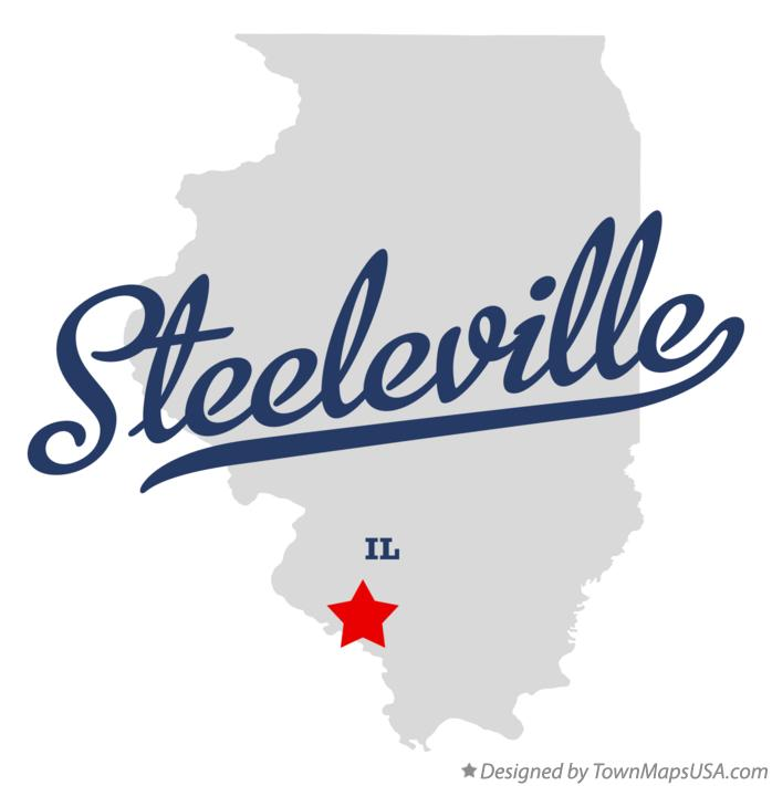 Map of Steeleville Illinois IL