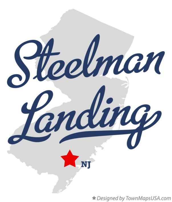 Map of Steelman Landing New Jersey NJ