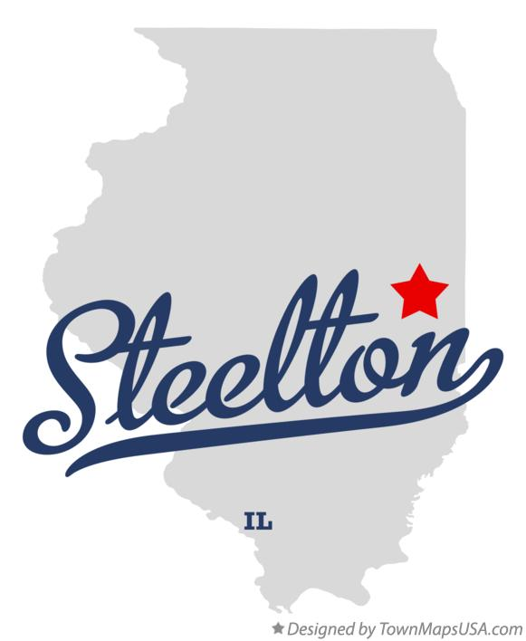 Map of Steelton Illinois IL