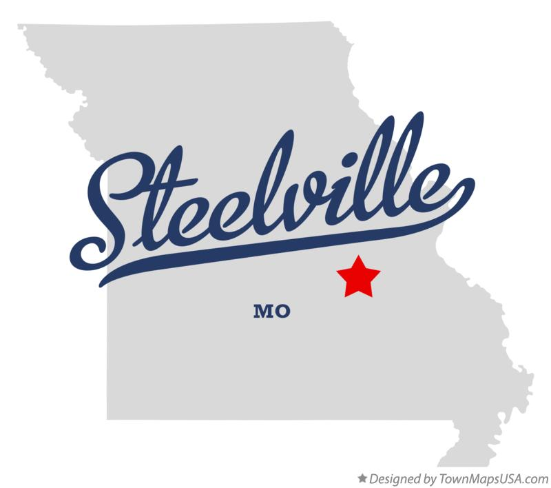 Map of Steelville Missouri MO