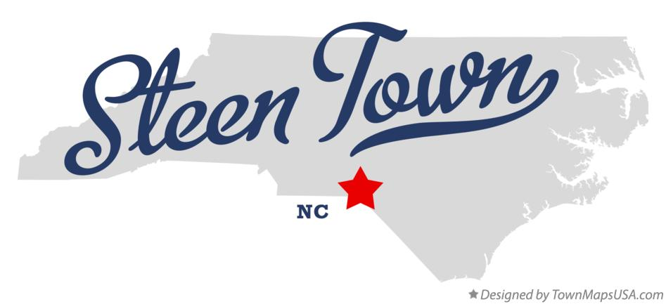 Map of Steen Town North Carolina NC