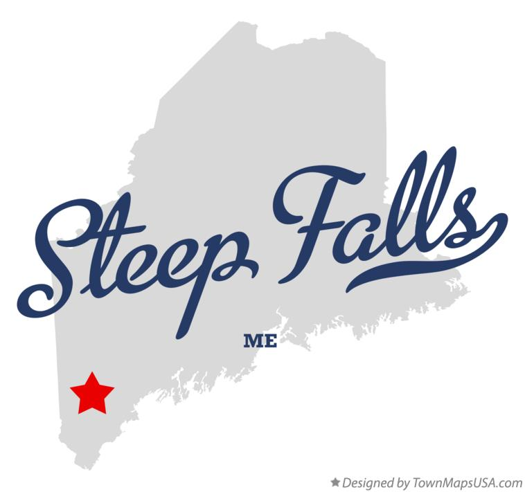 Map of Steep Falls Maine ME