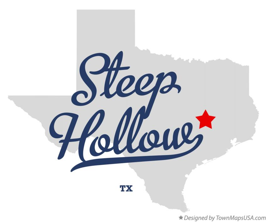 Map of Steep Hollow Texas TX