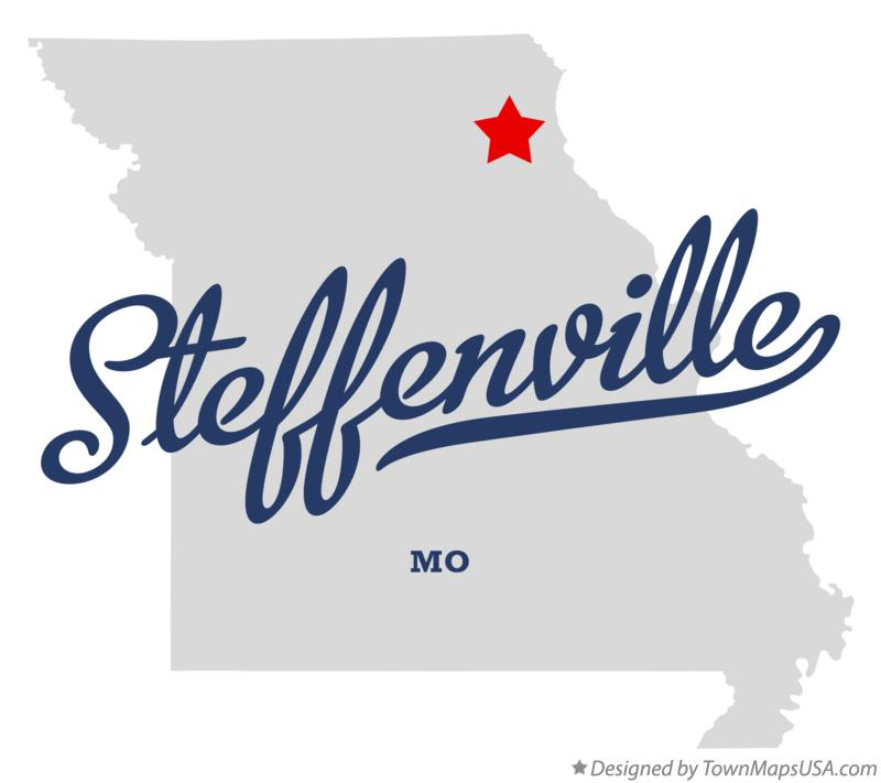 Map of Steffenville Missouri MO