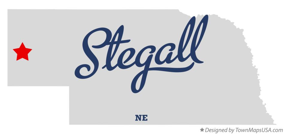 Map of Stegall Nebraska NE