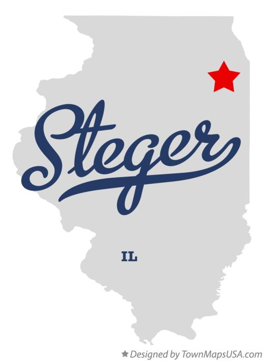 Map of Steger Illinois IL