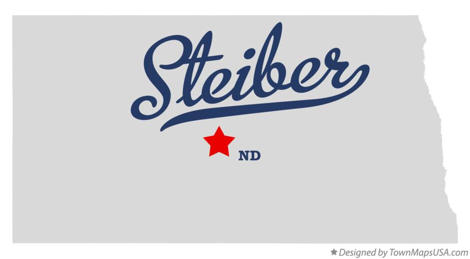 Map of Steiber North Dakota ND