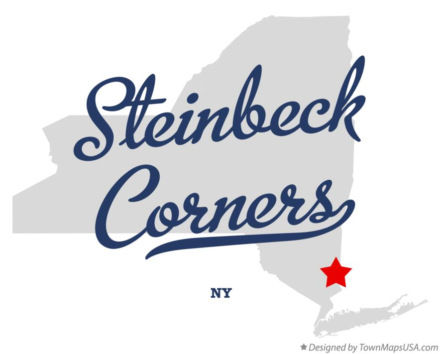 Map of Steinbeck Corners New York NY