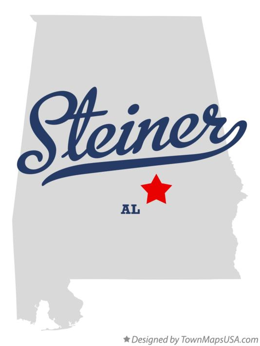 Map of Steiner Alabama AL