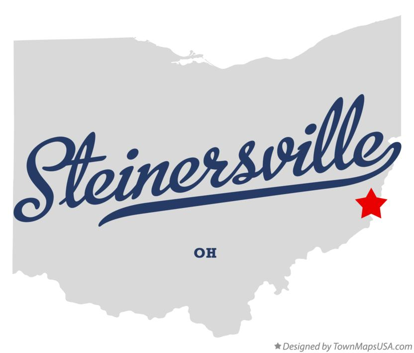Map of Steinersville Ohio OH