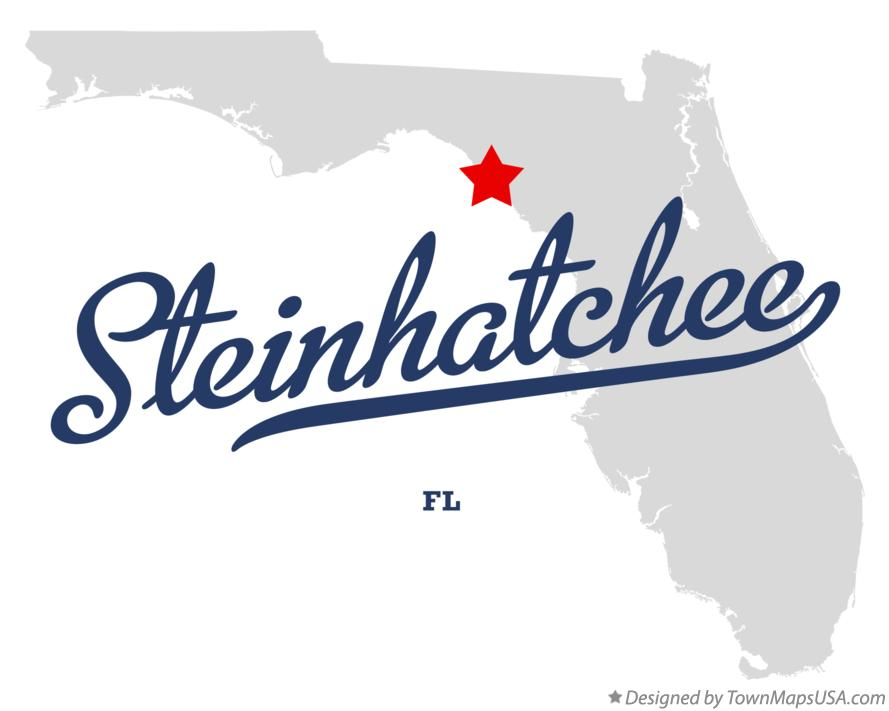 Map of Steinhatchee Florida FL