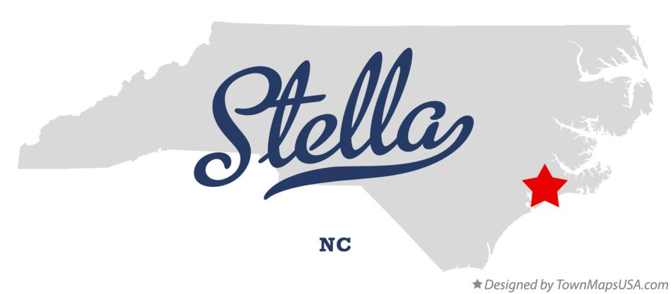 Map of Stella North Carolina NC