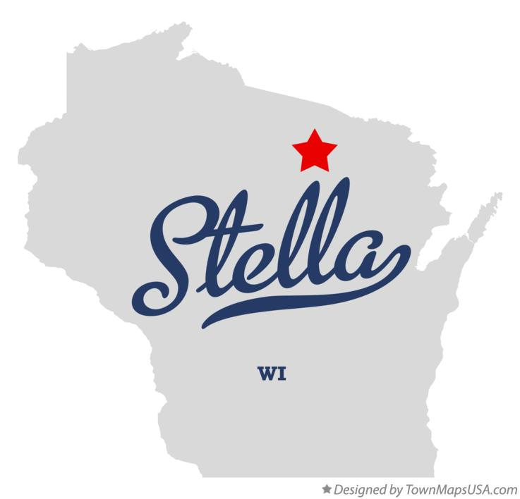 Map of Stella Wisconsin WI