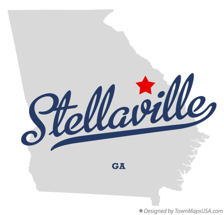 Map of Stellaville Georgia GA