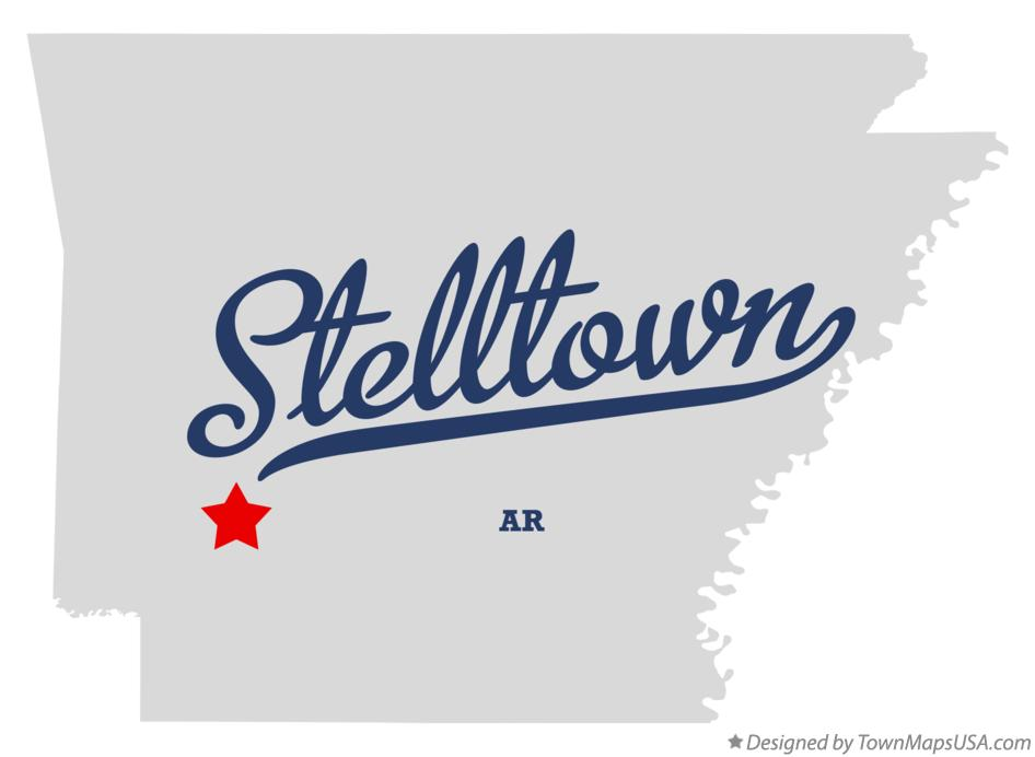 Map of Stelltown Arkansas AR