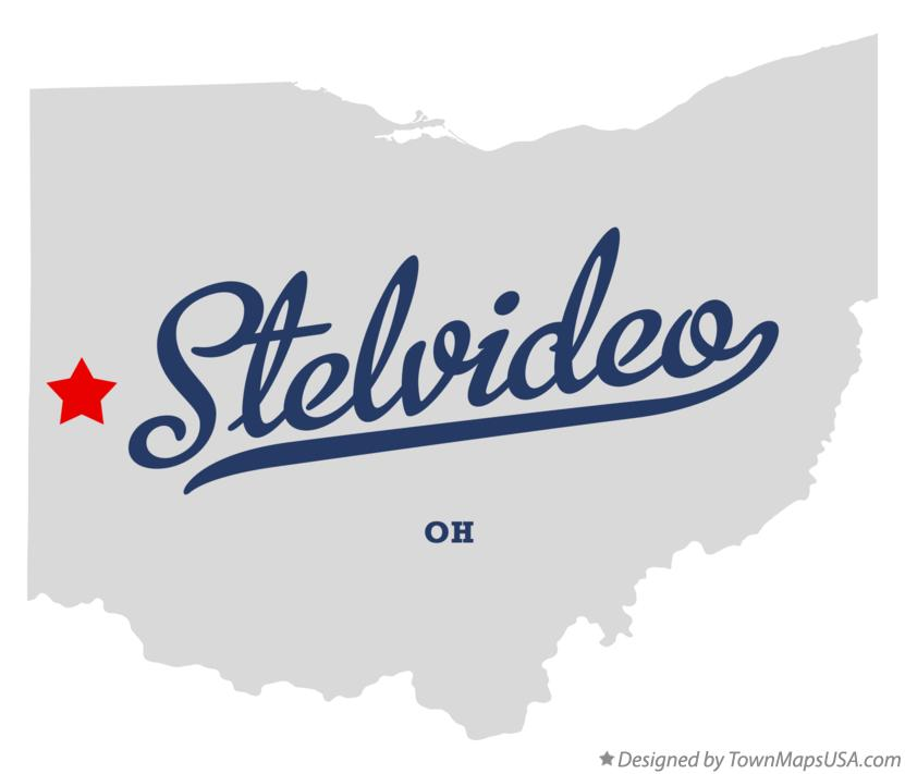 Map of Stelvideo Ohio OH