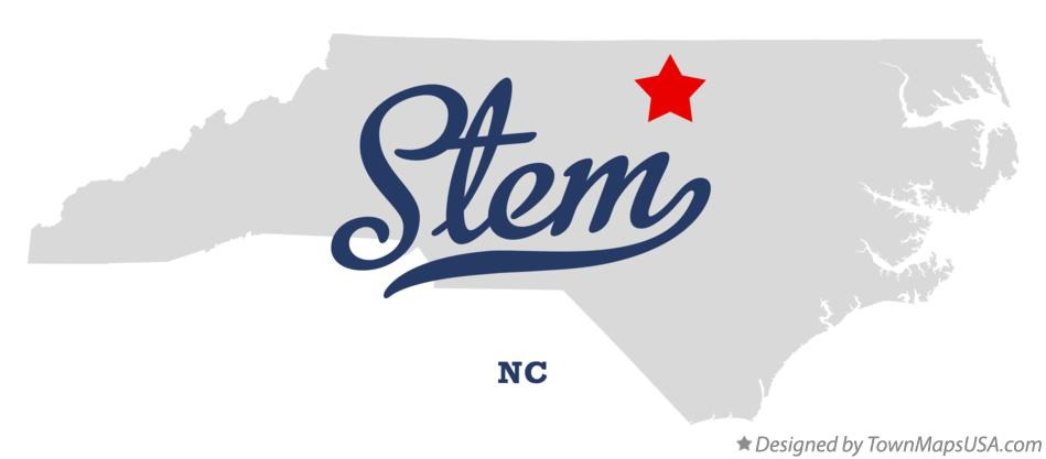 Map of Stem North Carolina NC