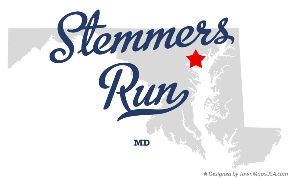 Map of Stemmers Run Maryland MD