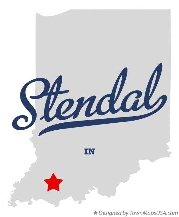 Map of Stendal Indiana IN