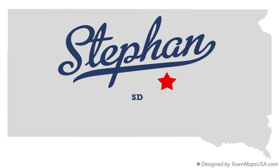 Map of Stephan South Dakota SD
