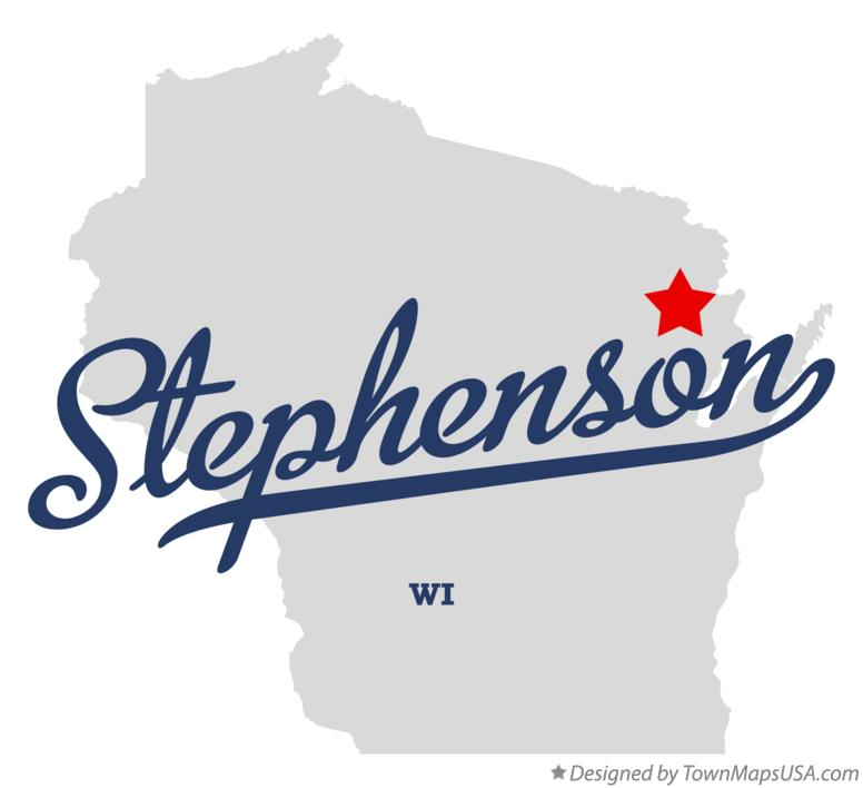 Map of Stephenson Wisconsin WI