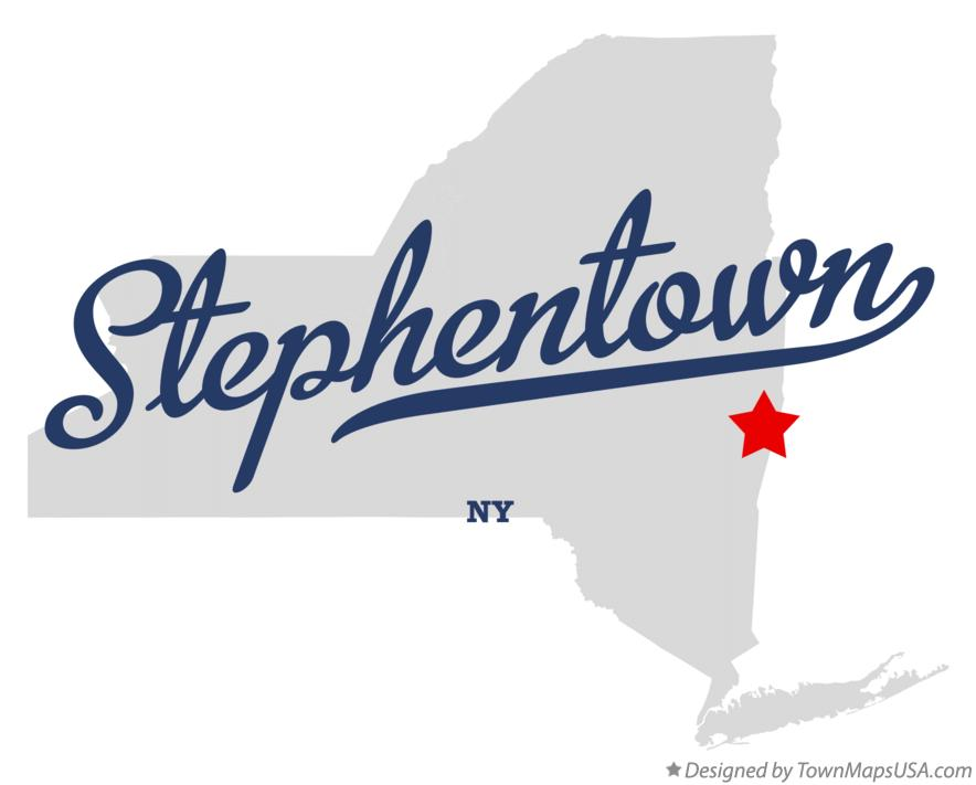 Map of Stephentown New York NY