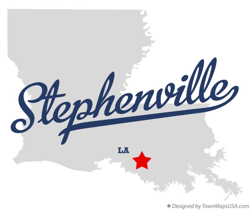 Map of Stephenville Louisiana LA