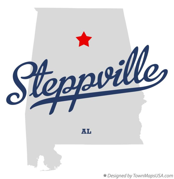 Map of Steppville Alabama AL