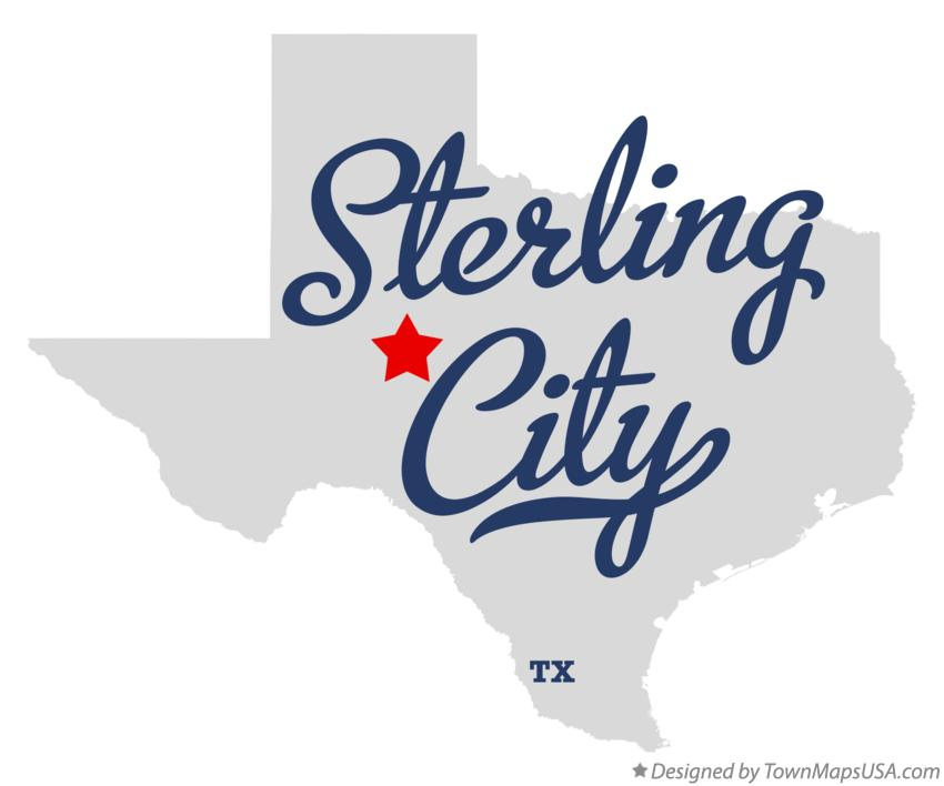 Map of Sterling City Texas TX