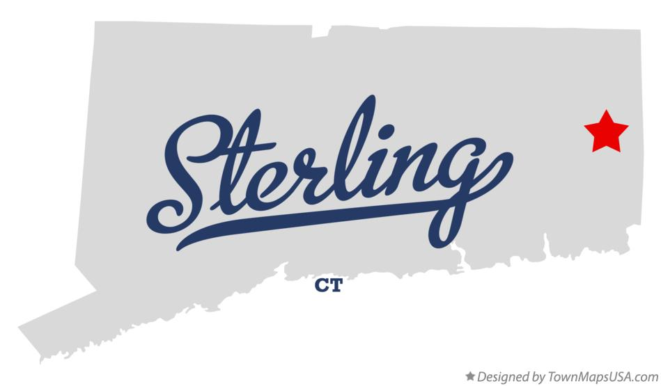 Map of Sterling Connecticut CT