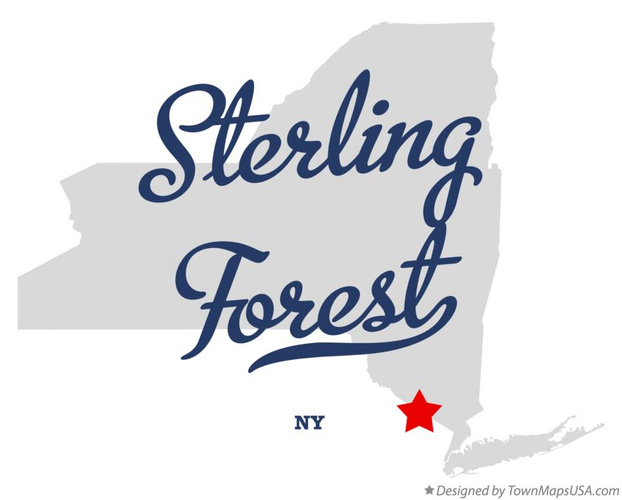 Map of Sterling Forest New York NY