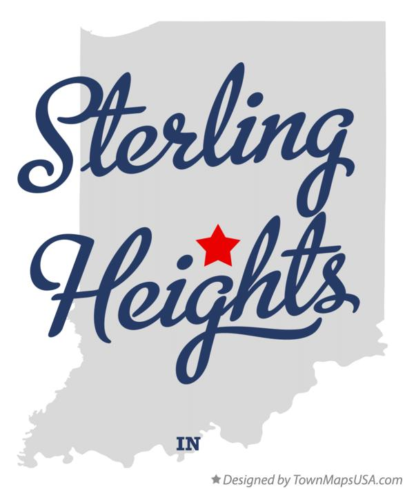 Map of Sterling Heights Indiana IN