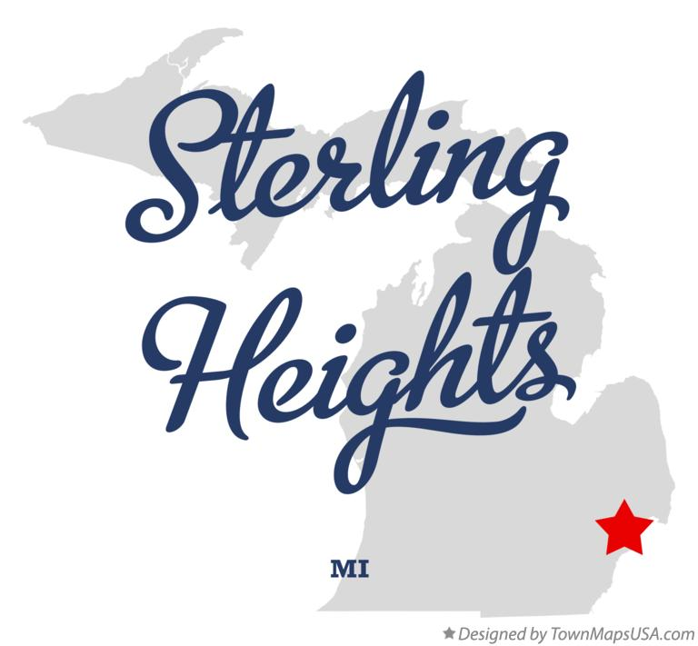 Map of Sterling Heights, MI, Michigan