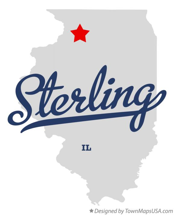 Map Of Sterling Il Illinois