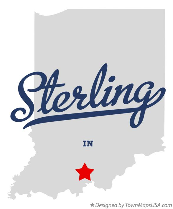 Map of Sterling Indiana IN