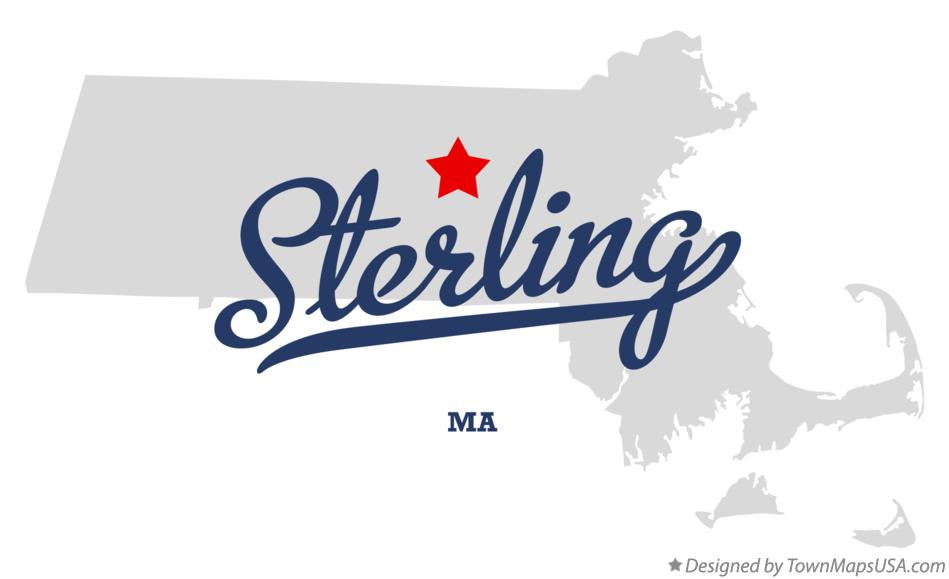 Map of Sterling Massachusetts MA