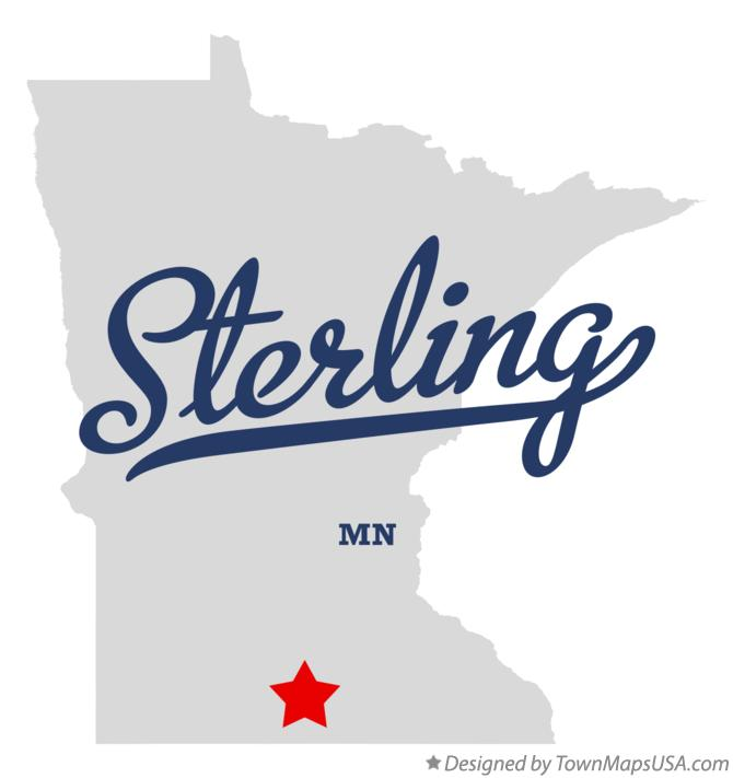 Map of Sterling Minnesota MN