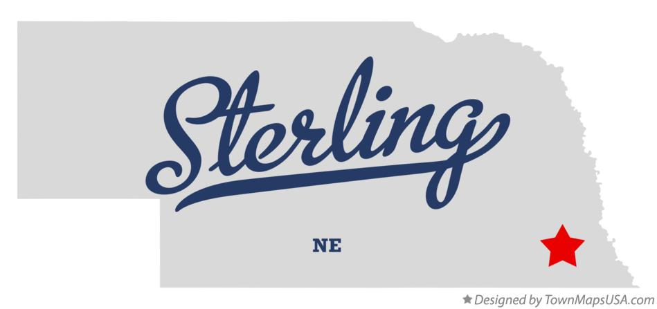 Map of Sterling Nebraska NE