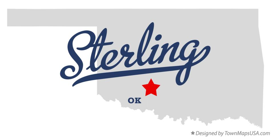 Map of Sterling Oklahoma OK