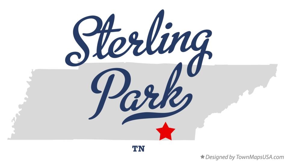 Map of Sterling Park Tennessee TN