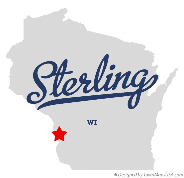 Map of Sterling Wisconsin WI