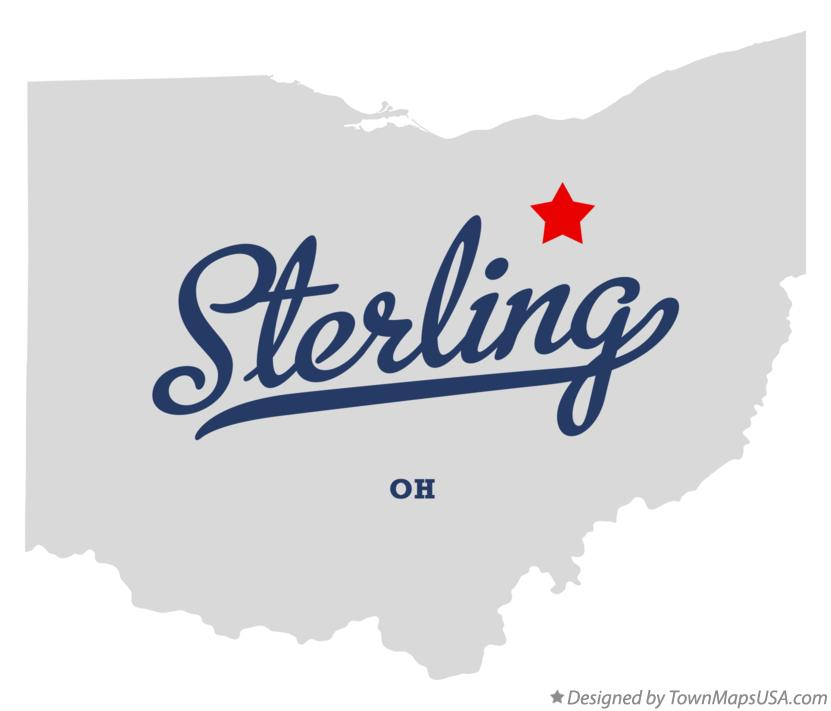 Map of Sterling Ohio OH
