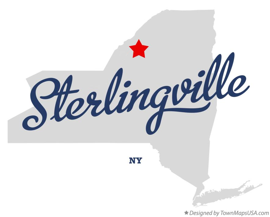 Map of Sterlingville New York NY