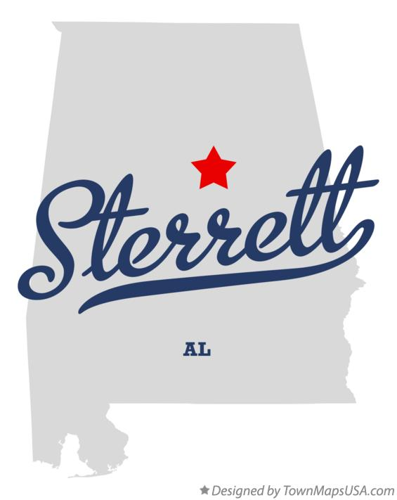 Map of Sterrett Alabama AL
