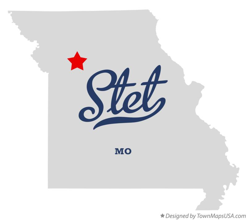 Map of Stet Missouri MO