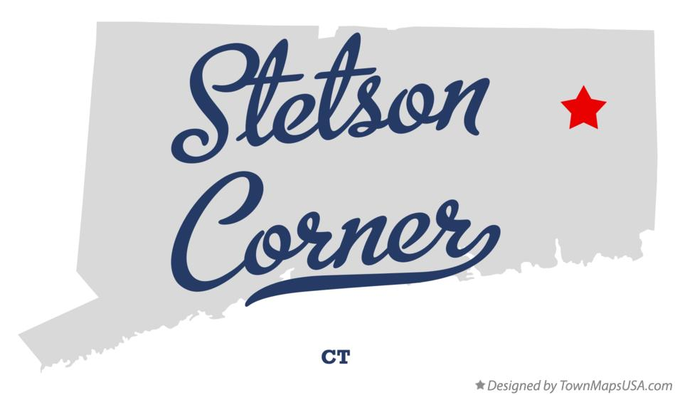 Map of Stetson Corner Connecticut CT