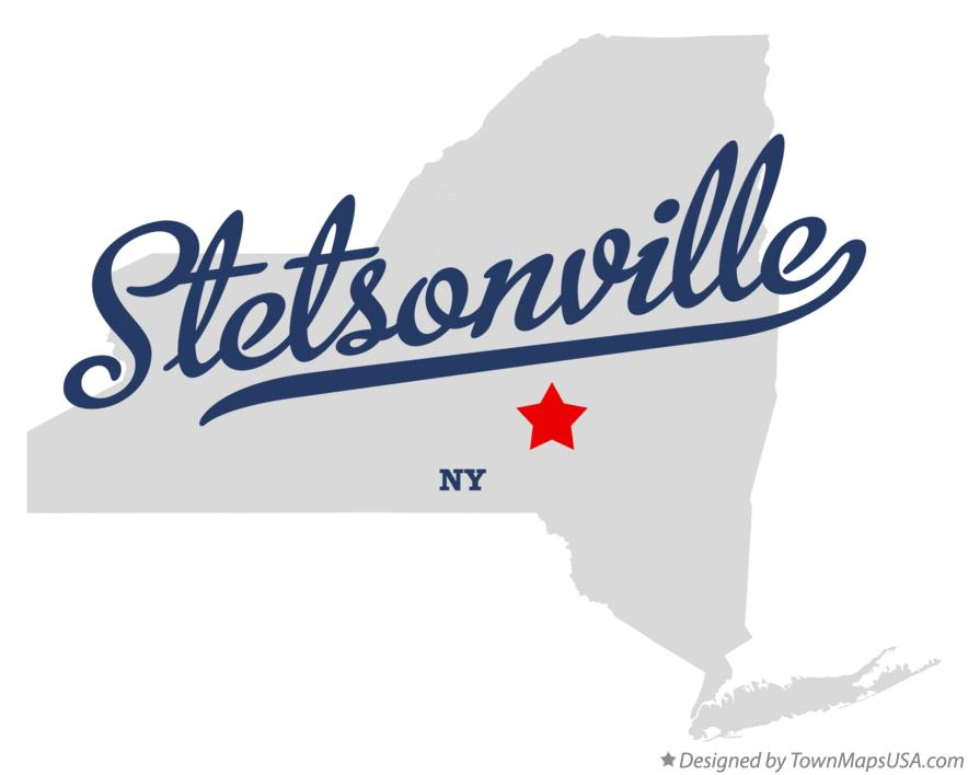 Map of Stetsonville New York NY