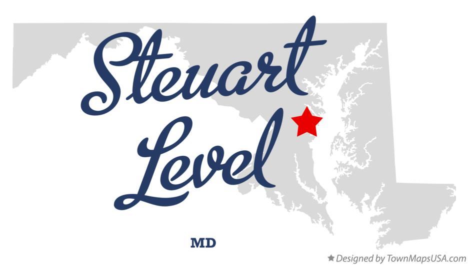 Map of Steuart Level Maryland MD