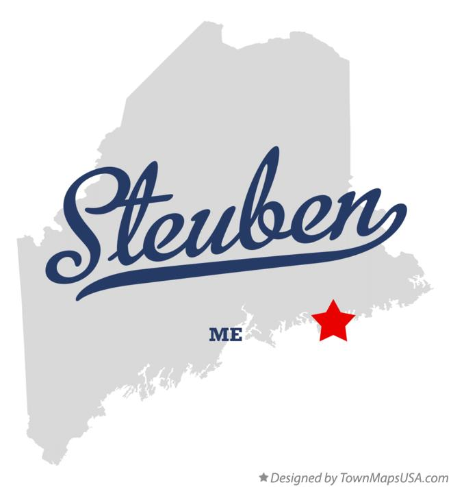 Map of Steuben Maine ME