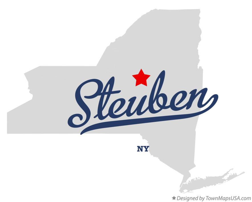 Map of Steuben New York NY